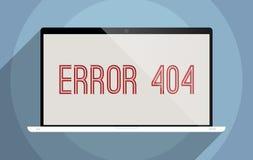 Errore 404 Immagine Stock