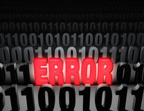Errore clamorosa del computer Fotografia Stock