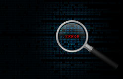 Errore del calcolatore Fotografia Stock Libera da Diritti