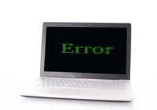 Errore del computer Immagine Stock Libera da Diritti