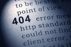 Errore del HTTP 404 fotografie stock libere da diritti