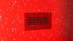 Errore di dati del computer stock footage