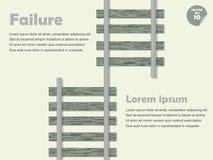 Errore di Infographic e concetto di guasto Fotografia Stock
