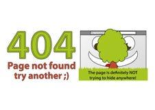 Errore divertente 404 - pagina non trovata Illustrazione di Stock