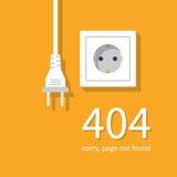 Errore 404 elettrico Fotografie Stock