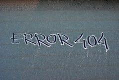 Errore gelido 404 Immagini Stock