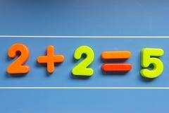 Errore matematico sulla lavagna fotografie stock