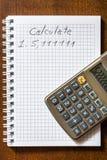 Errore nei calcoli fotografie stock
