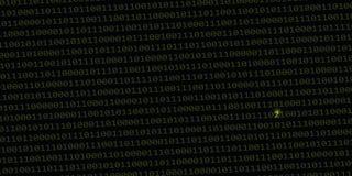 Errore nel codice di dati binari illustrazione vettoriale