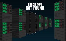 Errore 404 non trovato Immagine Stock Libera da Diritti