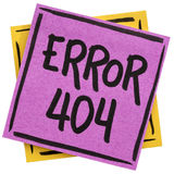 Errore 404 - pagina non trovata Immagini Stock