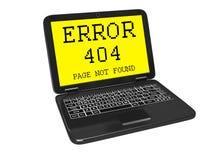 errore 404 sullo schermo Fotografia Stock
