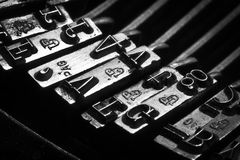 Errores tipográficos de una máquina de escribir vieja Fotografía de archivo libre de regalías