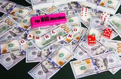 Errori di gioco fatti con le vostre finanze Immagini Stock