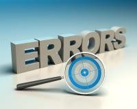 Errors detection Stock Photography