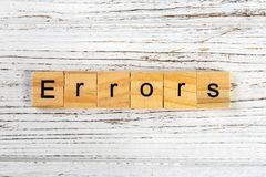 ERRORS word made with wooden blocks concept.  Stock Images