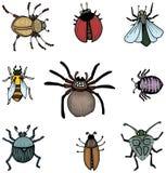 Erros e insetos ilustração do vetor