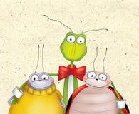 Erros felizes dos desenhos animados Foto de Stock Royalty Free