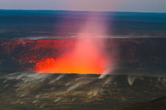 errupting wulkan Fotografia Stock