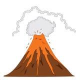 Erruption do vulcão Fotografia de Stock