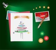 Erry圣诞节和新年快乐节日概念 库存照片