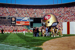 49ers at Candlestick Park, San Francisco, CA Stock Photos