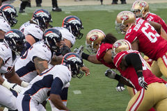 49ers contre Broncos Photos stock