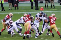 49ers contre Broncos Photo stock