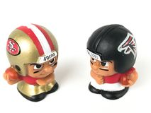 49ers contro Broncos ` L giocattoli di Li di Falcons dei compagni di squadra Immagine Stock Libera da Diritti