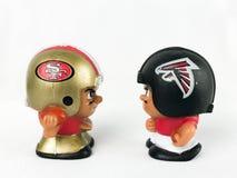 49ers contro Broncos ` L giocattoli di Li di Falcons dei compagni di squadra Fotografia Stock Libera da Diritti