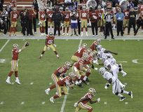 49ers estratega Nick Mullens Takes una alta broche fotografía de archivo