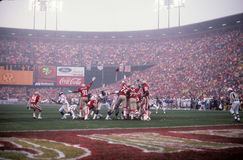 49ers Football at Candlestick Park. Candlestick Park, the former home of the San Francisco 49ers. (Image taken from color slide stock photo