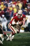 Steve Young of SF 49ers. 49ers Hall of Fame quarterback Steve Young.  Image taken from color slide Royalty Free Stock Photo