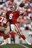 Steve Young of SF 49ers. 49ers Hall of Fame quarterback Steve Young.  Image taken from color slide Stock Images