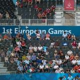 1ers jeux européens Images stock