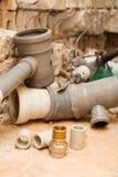 Ersatz der Wasserversorgung und der Kanalisation Lizenzfreie Stockfotografie