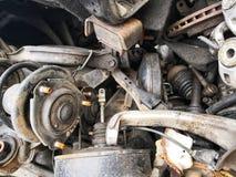 Ersatzteile der steilen Böschung des Fahrzeugs stockbilder