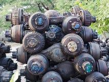 Ersatzteile des Gebrauchtwagens Stockfotos