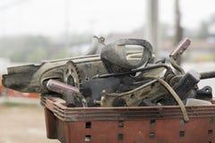 Ersatzteile des Motorrades stockbilder
