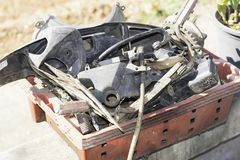Ersatzteile des Motorrades lizenzfreies stockbild