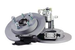 Ersatzteile für Auto. Bremsmechanismus Stockbilder