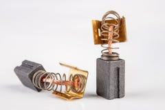 Ersatzteile für den Elektromotor Komponenten des Elektroantriebs, die heraus das schnellste tragen lizenzfreie stockfotografie
