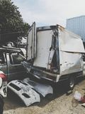 Ersatzteile vom Auto erlitten schwere Vorfälle lizenzfreies stockfoto