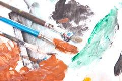 Erschöpfter Malerpinsel Lizenzfreies Stockfoto