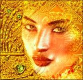 Erscheinung im Gold Stockbilder