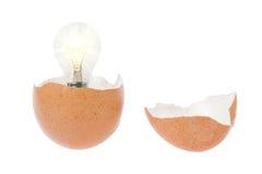 Erschienene Lampe von den unterbrochenen Eiern. Stockfoto