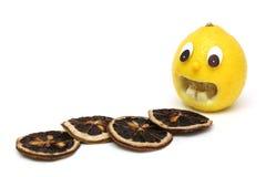 Erschreckende Zitrone stockfotos