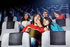 Erschreckendes Kino stockbilder