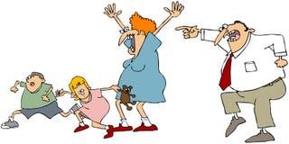 Erschrockene Familie Lizenzfreies Stockbild