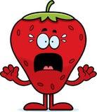 Erschrockene Karikatur-Erdbeere Lizenzfreie Stockfotos